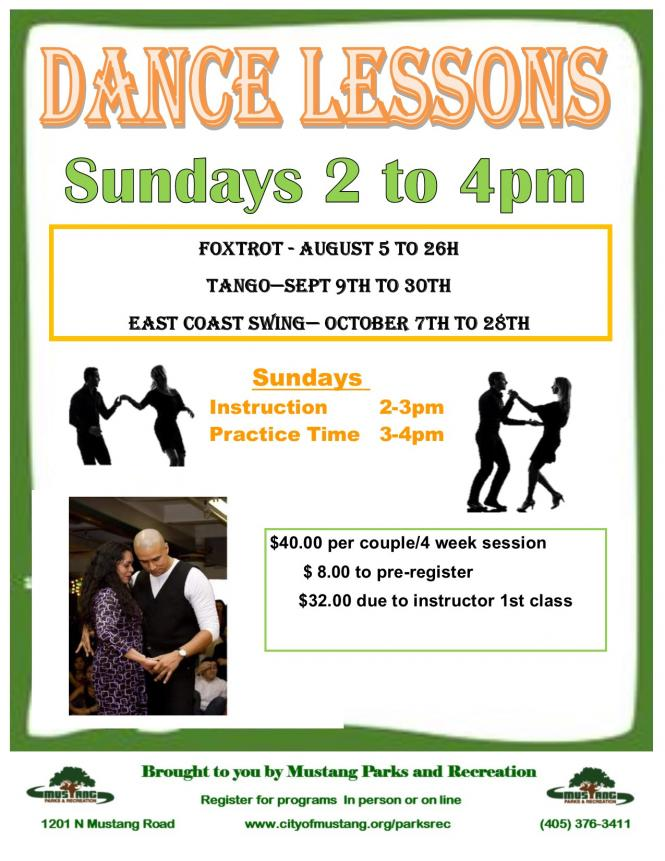 Tango Dance Lessons City Of Mustang Oklahoma
