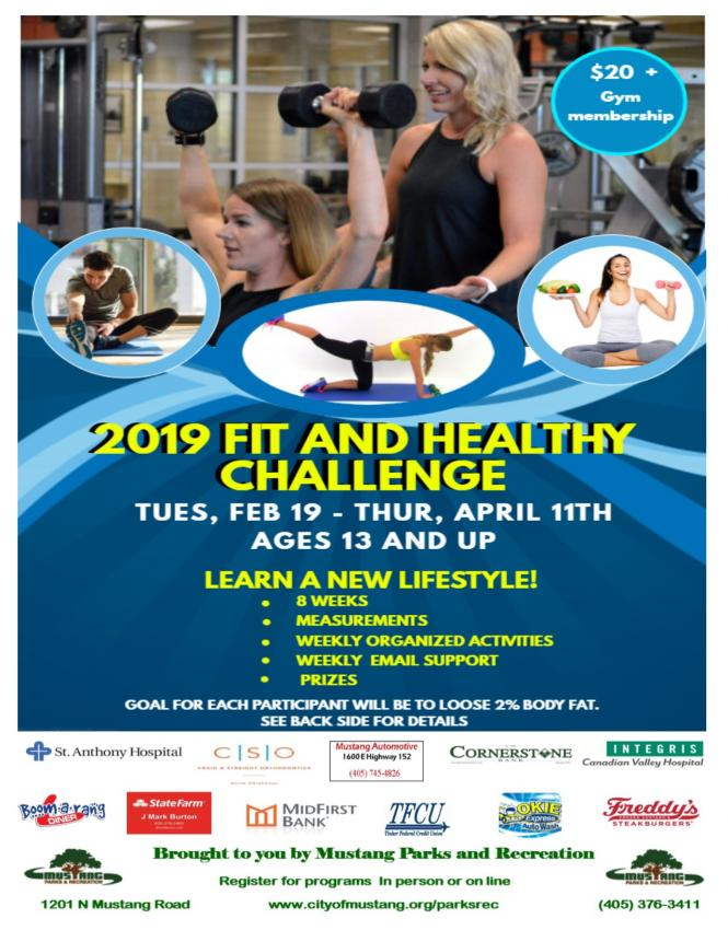 FIT AND HEALTHY CHALLENGE | City of Mustang Oklahoma