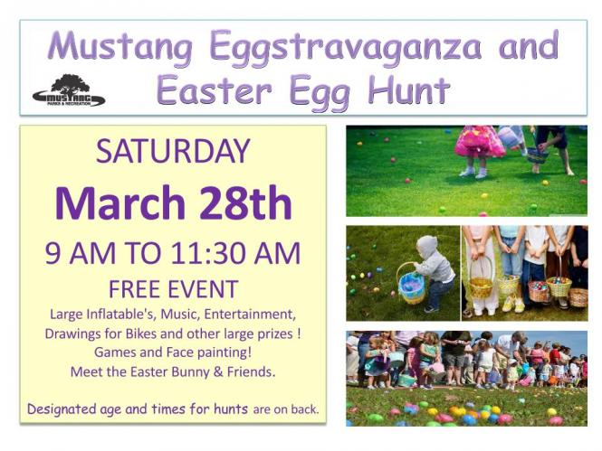 Easter Eggstravaganza and Egg Hunts | City of Mustang Oklahoma