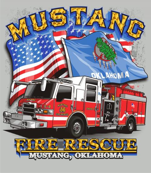 Fire Department T Shirt Sale City Of Mustang Oklahoma